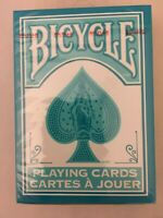 RARE BICYCLE TURQUOISE BACK DECK PLAYING CARDS RIDER 2017 AQUA Standard Poker