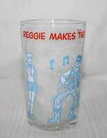 "1971 Welch's Archies ""Reggie Make The Scene"" Jelly Jar Hot Dog On Bottom"