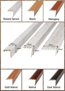 Wood Laminate Stair Edge Nosing Engineered Upvc Trim Edging 30x30mm x 900 mm