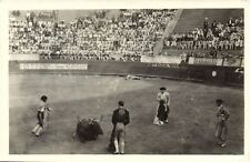 MEXICO, CORRIDA DE TOROS, BULLFIGHTING, VINTAGE REAL PHOTO POSTCARD