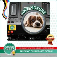Personalised Spare Wheel Cover 4x4 Graphic Sticker YOUR PHOTO Laminated RV 5TH