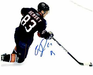 Edmonton Oilers ALES HEMSKY Signed Autographed 8x10 Pic D