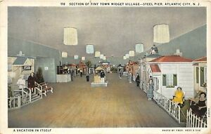 H59/ Atlantic City New Jersey Postcard 1932 Interior Tiny Town Midget Village