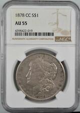 1878-CC Morgan Silver Dollar NGC AU 55 No Reserve Auction - 99C Opening Bid