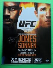 Jon Jones auto UFC 159 Official Poster 16 x 20 PSA/DNA COA vs Sonnen Autograph