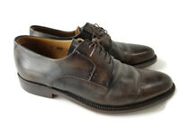 Sutor Mantellassi Authentic Leather Oxford Dress Shoe Brown Men's 8.5 Ships FREE