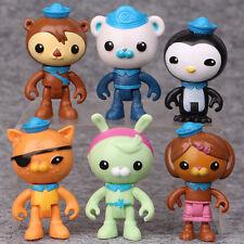 Octonauts PVC Figures Barnacles Peso Kwazii Dashi Tweak Toy Kids Doll 6PCS/pack