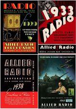 Vintage ALLIED RADIO Catalogs - 1929 1933 1938 1943 - HiRes on CD