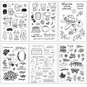 Clear Stamp Transparent Seal Animal Polymer Clay Texture Pottery Craft Tool DIY