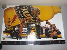 Vintage 1993 Mgd Miller Genuine Draft Rusty Wallace Pitstop Sexy Girls Poster.