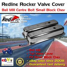New Redline Rocker Valve Cover Ball Mill Tall Centre Bolt Small Block Chev 350