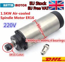 EU: 1.5KW ER16 220V Air Cooling CNC Spindle Motor Wood Milling 400Hz 24000rpm 8A