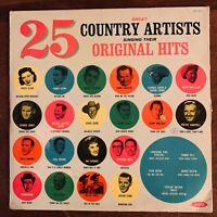 25 GREAT COUNTRY ARTISTS SINGING THEIR ORIGINAL HITS VINYL LP ARTISTIC LP-711 VG