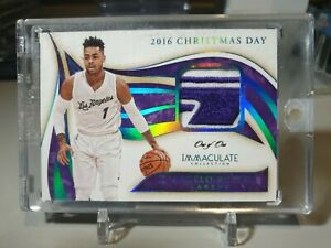 2019-20 Immaculate D'Angelo Russell 2016 Christmas Day Game Platinum True 1/1!