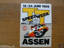 STICKER,DECAL DUTCH TT ASSEN 1989 LUCKY STRIKE  SPEEDWEEK 1989 ASSEN 19-24 JUNI