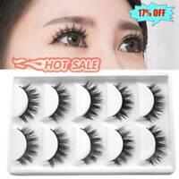 5 Pairs Luxurious 3D False Eyelashes Cross Makeup Natural Long Lashes B Eye Q3X7