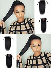 One Piece 80g Wrap Around Binding Tie up Ponytail Clip in Hair Extensions HOT:)