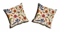 Flower Bird Cushion Cover Set of 2 Pcs Throw Pillow Case Classy Home Décor