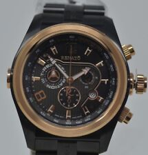 New Mens Renato T-rex Black IP 48mm Swiss Chronograph Watch - Limited to 30