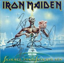 IRON MAIDEN Seventh Son Of A, FULLY SIGNED Vinyl LP Bruce Dickinson +4 AUTOGRAPH