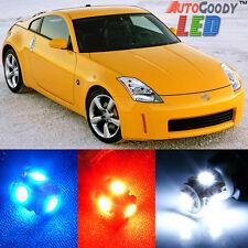 9 x Premium Xenon White LED Light Interior Package Kit for Nissan 350Z + Tool