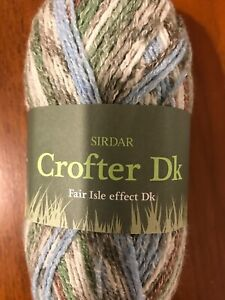 Sirdar Crofter DK double knitting FAIR ISLE wool 50g DISCONTINUED 0096 NEVIS