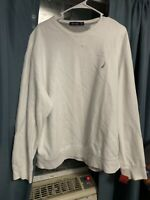 Nautica Pullover Sweatshirt Mens XL Black White Logo