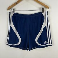 Adidas Mens Shorts Large Blue Elastic Waist Drawstring