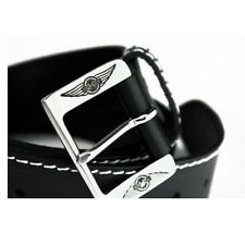 New Morgan Mens Black Logo Belt in High Quality Leather for waist up to 40/42″