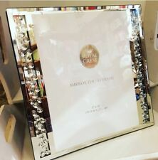 Mirror And Floating Diamonds 5x7 Photo Frame Sparkle Glass Wedding Romany Gift