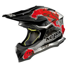 CASCO CROSS NOLAN N53 PRACTICE - 31 C.CHECA SCRATCHED CHROME TAGLIA XL