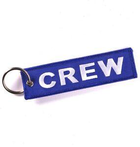 Blue CREW Tag x1 RAF Luggage Tag Keyring Ryanair Pilot Cabin Crew Airline TCX