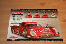 2009 Gainsco Racing DP Pontiac Rolex 24 Grand Am postcard Jimmie Johnson
