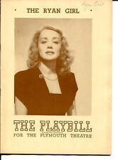 June Havoc Edmund Lowe Doris Dalton Una O'Connor The Ryan Girl 1945 Playbill