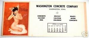 FEB.1952 MAC PHERSON PIN UP INK BLOTTER, CELLOPHANE BOX