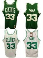 Larry Bird #33 Boston Celtics Mens S-M-L-XL-2XL Mitchell & Ness HWC Jersey $130