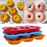 Silicone Donut Mould 6 Cavity Non-Stick Full-Sized Safe Baking Tray Maker Pa _ne