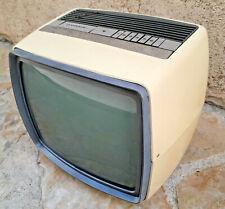 Télévision TV portative blanche GRUNVAL en panne Vintage 70's Années 1970