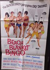 Beach Blanket Bingo 1965 Original Folded 27x41 Movie Poster Annette Funicello