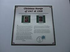 5 Cent 1967 Madonna and Child & 6 Cent 1968 The Annunciation Christmas Stamps