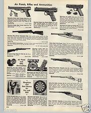 1959 PAPER AD Daisy Eagle With Scope Sheridan Blue Streak Air Rifle BB Gun