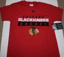 New Boy's Youth NHL Chicago Blackhawks Majestic Team Logo Cotton T-Shirt Medium