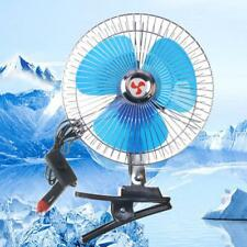Portable 8'' Car Cooler Oscillating Cooling Clip-on Fan Outdoor Camping 25W 12V