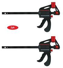 "2pk 6"" Mini Ratcheting Bar Clamp / 9 Inch Spreader Pistol Grip Woodworking"
