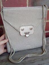 Vintage Glomesh hand Bag. CREAM, Evening Wear, Ladies bag, collectable,