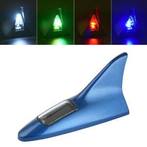 Solar Power Car Shark Fin Roof Antenna LED Car Styling Warning Flash Tail Light