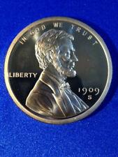 2 oz Lincoln Wheat Cent Copper Bullion Round .999 Fine 1909 SVDB