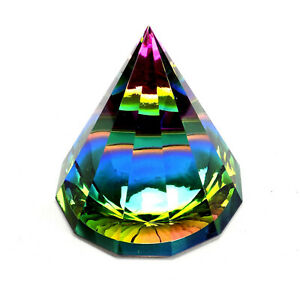 Buntes Prisma 6,5 cm Kristall Glas Pyramide Feng Shui Lichtbrecher Nr. 7010359