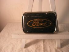 "Vintage FORD Logo Belt Buckle R.J. Roberts Co Rochester MI USA 3"" x 2"""