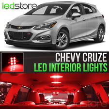2011-2018 Chevy Cruze Red Interior LED Lights Kit Package + License Lights